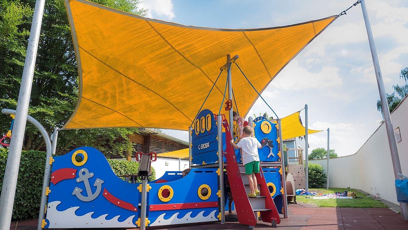 Kinderspielplatz im Egrensisbad in Waldsassen.