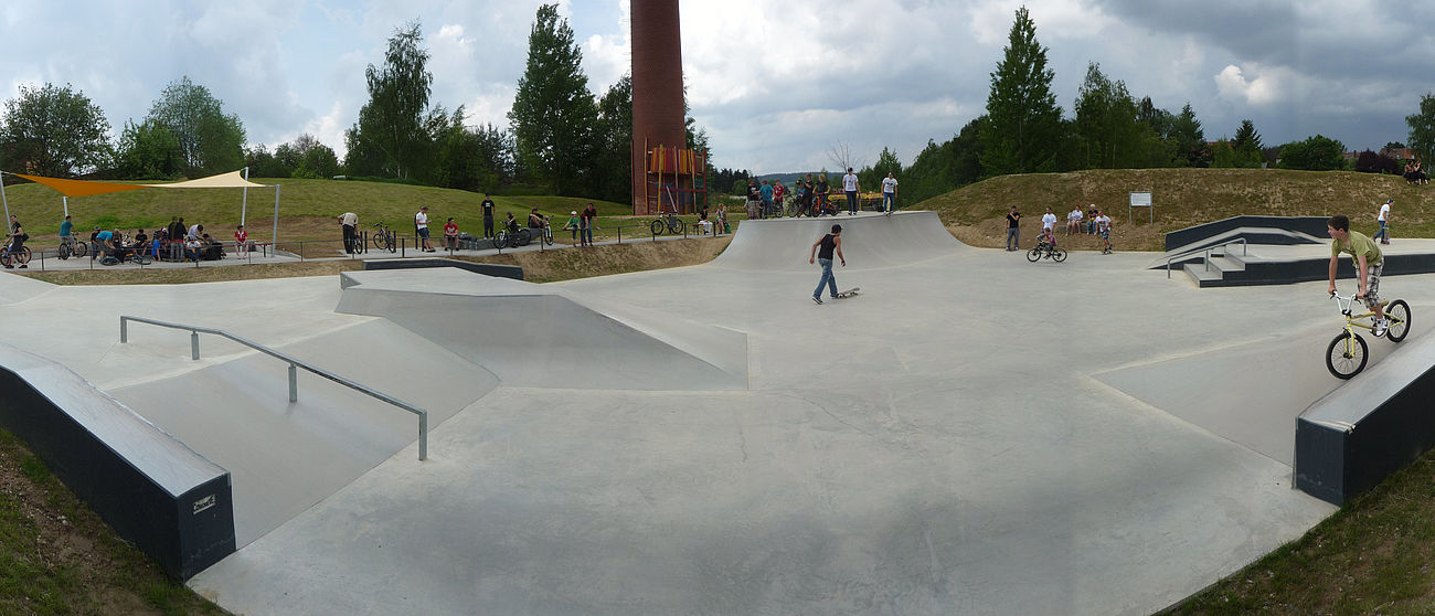 Panoramabild vom Skaterpark in Waldsassen